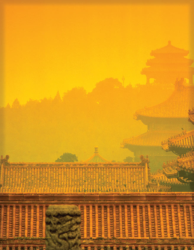 Pagoda Sunset Back Cover
