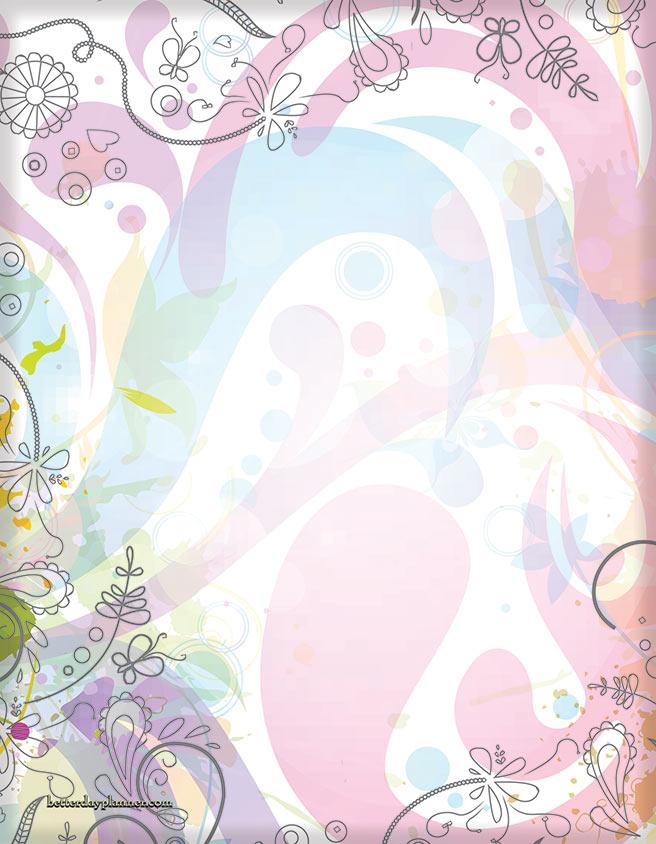 Pastel Foliage Back Cover
